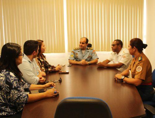 Subcomandante-geral da PMSE recebe a visita da secretária de saúde de Aracaju