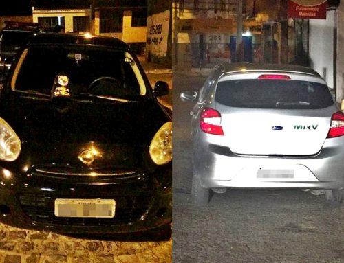 PM recupera dois veículos com restrição de roubo no Porto Dantas