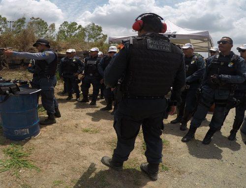 Galeria de fotos da CPTran em instrução de tiro policial, aula prática no Centro de Treinamento Operacional – CTO
