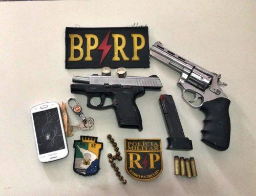 PM prende dupla com armas de fogo e coletes balísticos no Bairro Cidade Nova