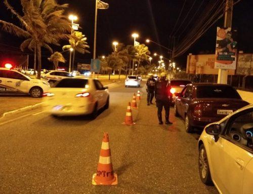 Polícia militar autua 27 motoristas em Operações da Lei Seca neste fim de semana em Aracaju