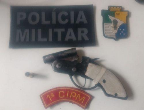 PM prende dupla em posse de arma de fogo em Itaporanga