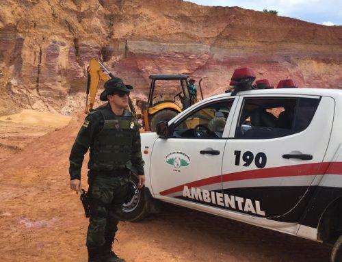 Pelotão de Polícia Ambiental flagra extração ilegal de minério em Itaporanga