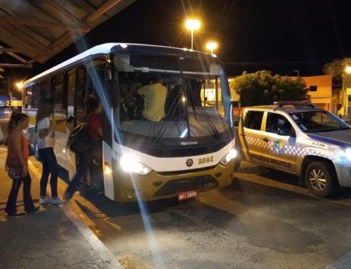 Polícia Militar reforça segurança do transporte universitário em Itaporanga D'Ajuda