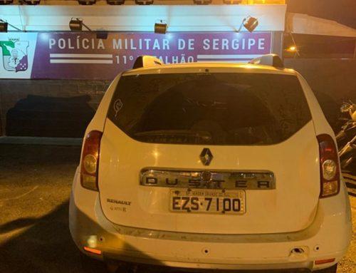 Polícia Militar recupera veículo e prende suspeito na cidade de Itabaianinha