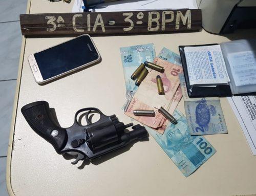 PM apreende arma de fogo durante abordagem a dupla suspeita em Ribeirópolis