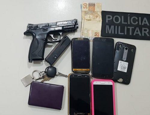 Policiais militares prendem três suspeitos de roubo no Povoado Lavandeira em Socorro