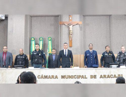 Câmara de Vereadores de Aracaju realiza solenidade em homenagem à PMSE