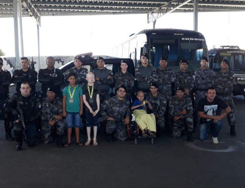 Polícia Militar abre as portas para crianças em tratamento contra o câncer