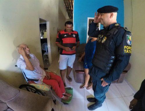 Acolhimento e solidariedade: Comando Geral visita cabo veterano de 86 anos, após tratamento médico