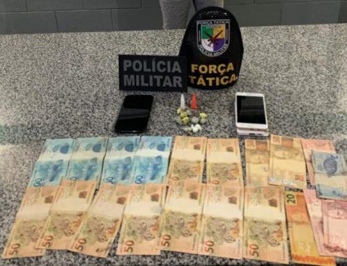 Polícia Militar apreende arma de fogo e drogas na cidade de Itabaianinha