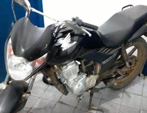 Policiais do 6º BPM recuperam motocicleta roubada em Arauá