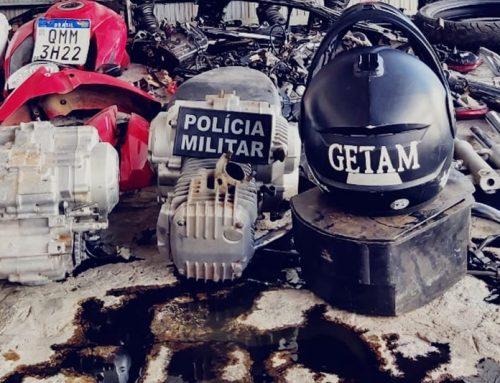 PM prende suspeito de comercializar peças de veículos em desmanche no Marcos Freire II